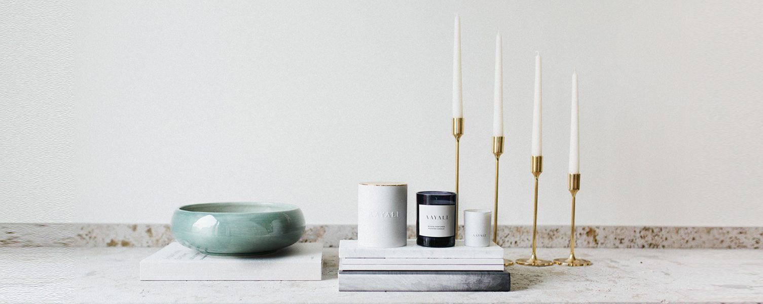 AAYALI scented candles and accessories